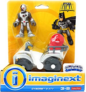 Fisher-Price Imaginext DC Super Friends Gotham City Collection Cyborg and ATV Action Figure Set