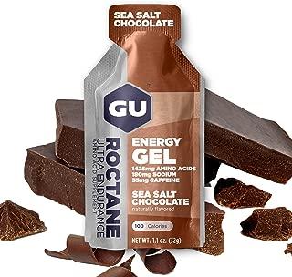 GU Energy Roctane Ultra Endurance Energy Gel, Sea Salt Chocolate, 24-Count