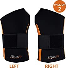 Phyex Strong Support Adjustable Wrist Wraps Straps Braces - Best for Weight Lifting, Loading Freight, Relieve Wrist Pain, Sprains, Carpal Tunnel
