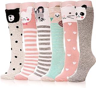 Girls Socks Knee High Stockings Cartoon Animal Warm...