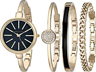 Women's Bangle Watch and Swarovski Crystal Bracelet Set, AK/1470