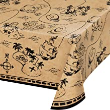 Creative Converting Pirate Treasure Plastic Tablecover, 102-inch Length x 54-inch Width