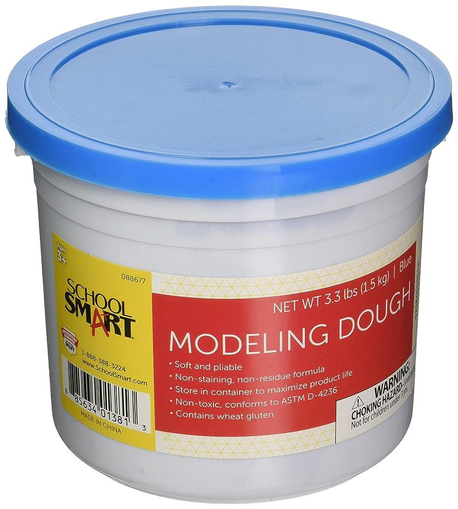 School Smart Non-Toxic Modeling Dough - 3 1/3 pounds - Blue