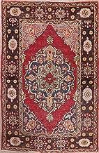 Antique Oushak Anatolian Area Wool Rug 5 x 7 Handmade Geometric Oriental Carpet (7' 2'' X 4' 7'')