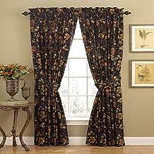 Best black floral drapes Reviews
