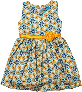 kid studio Girls Casual Dress for Kids Party Wear Printed Frock, 1-7 Years