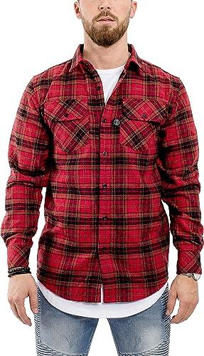 noirskies Flanelle Chemise Canadienne Longshirt   Hommes mode Longsleeve Manches Longues Long ruewear Chemisette - Ombre Dip-Dye