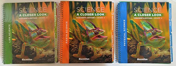 Science A Closer Look, Grade 4, Teacher's Edition, Macmillan/McGraw Hill, Three Volume set