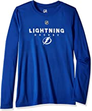 Outerstuff NHL NHL Tampa Bay Lightning Youth Boys Hyper Long Sleeve Performance Tee, Royal, Youth Large(14-16)