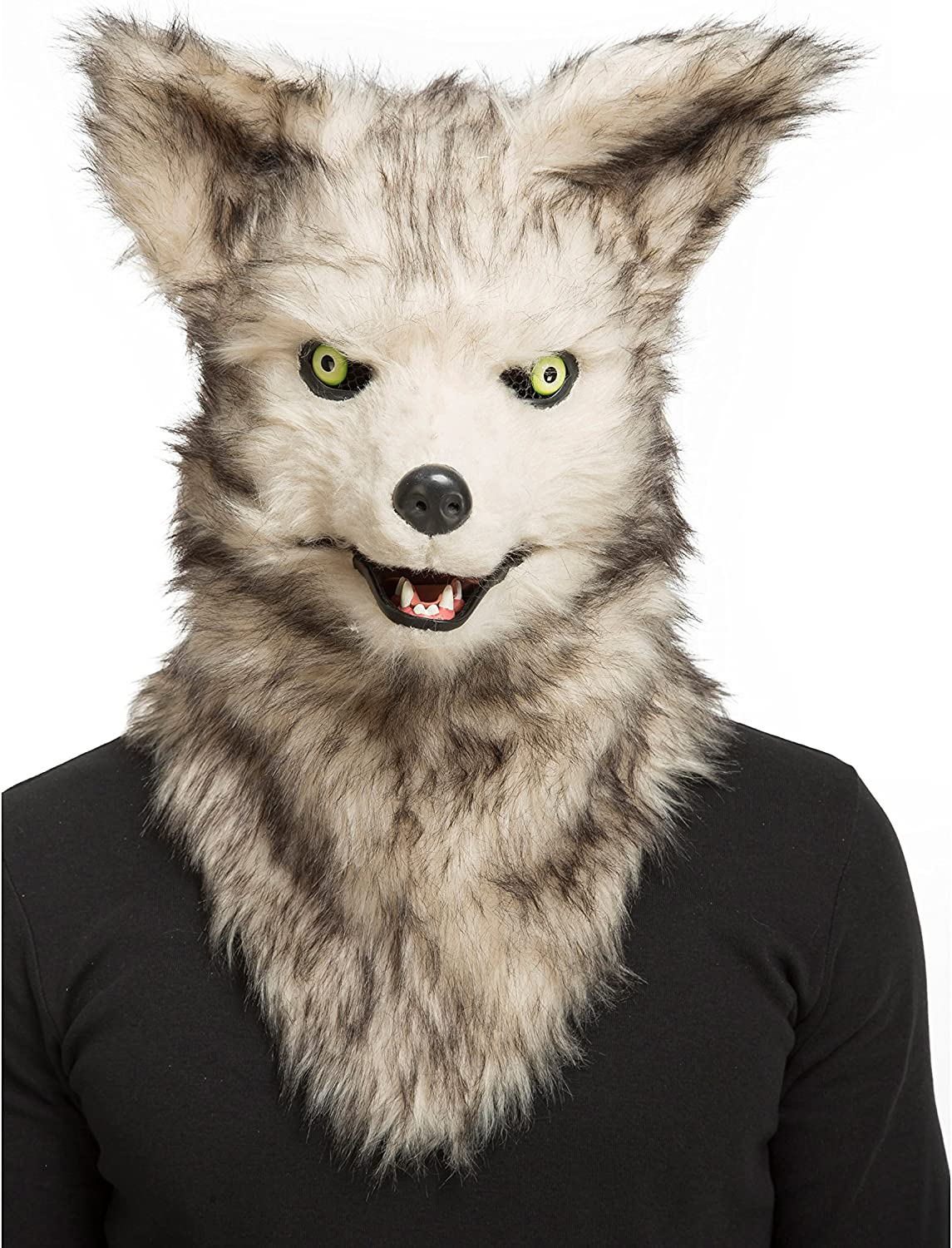 Viving Costumes 204678 Wolf Mask with Movable Jaw, Multi color, One Size