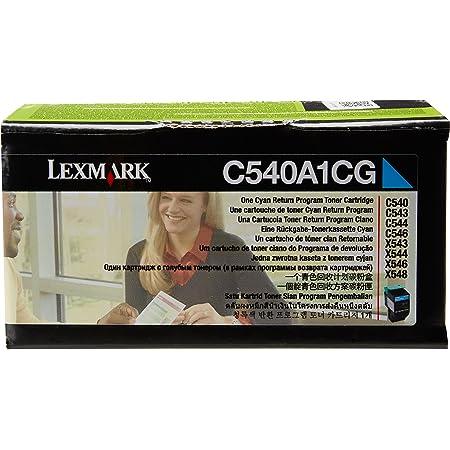 Lexmark C540A1CG C540 C543 C544 C546 X543 X544 X546 X548 Toner Cartridge (Cyan) in Retail Packaging