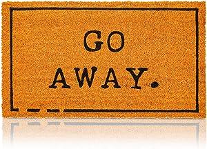 Go Away Nonslip Welcome Doormat, Natural Coco Coir Mat (17 x 30 in)