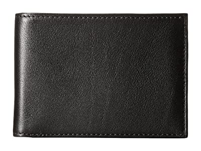 Bosca Nappa Vitello Small Bi-Fold Wallet (Black Leather) Bi-fold Wallet