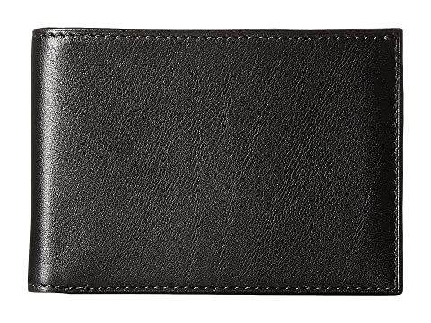 Leather pequeña Bosca plegable de Collection Old cuero New Billetera Fashioned negro CCY5rqw
