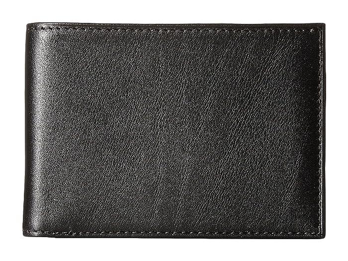 Bosca  Nappa Vitello Small Bi-Fold Wallet (Black Leather) Bi-fold Wallet