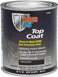 POR-15 45904 Top Coat Chassis Black Paint, 32. Fluid_Ounces