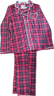 Red Dawn Plaid 2 Piece Notch Collar Long Sleeve Pajama Sleep Set