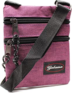 RabamtaGO Collection Bolso XL para hombre o mujer, bolso de hombro, bolso plano en el pecho, impermeable, bolso para el cu...