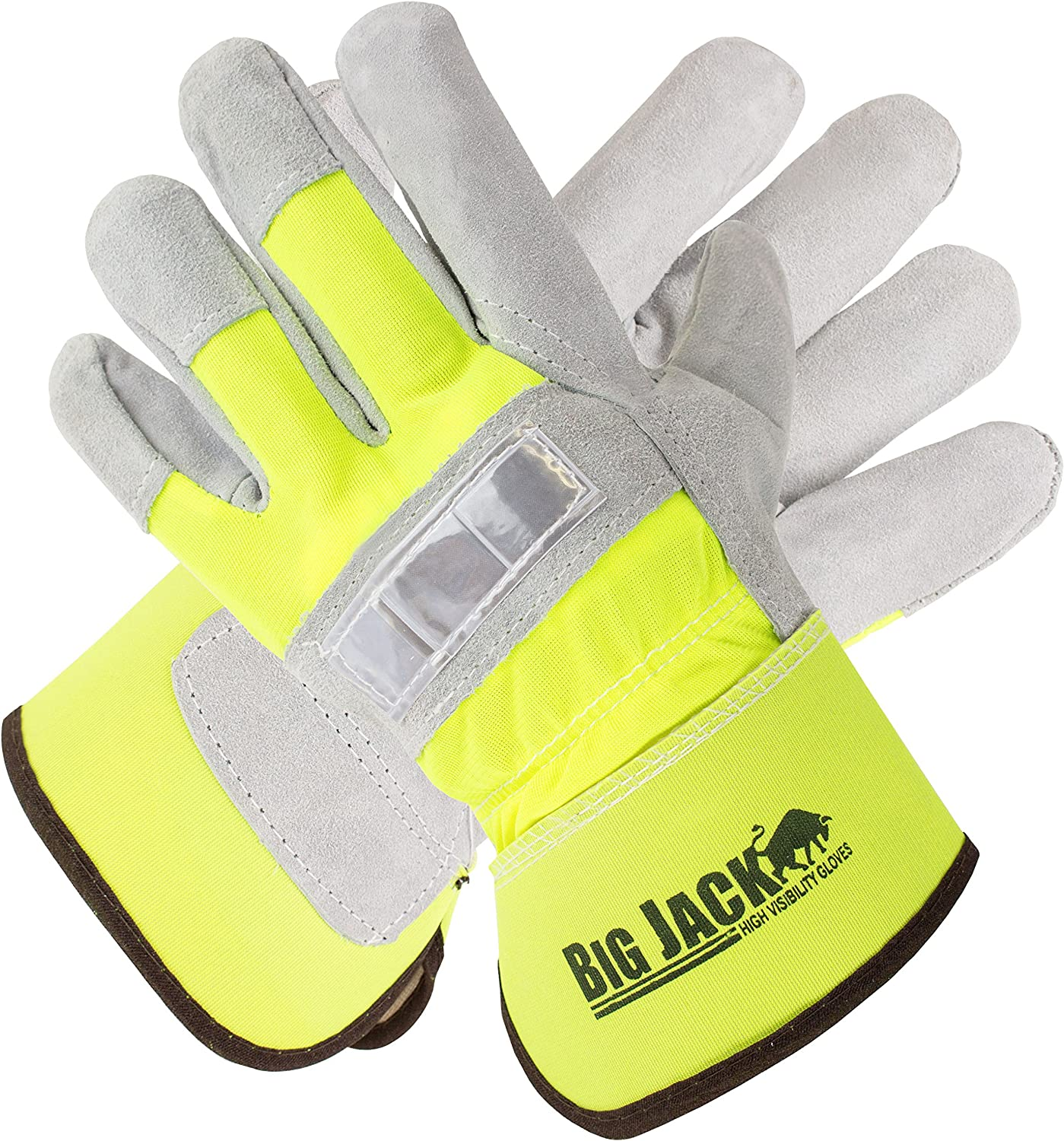 Better Grip BGBYHVG Hi Indianapolis Mall Visiblity Palm Leather Cowhide Gloves wit 100% quality warranty