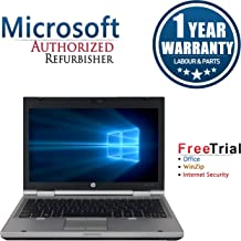 HP EliteBook 2560p Laptop 12in (Intel Core i5 2520M 2.5G,4G RAM DDR3,120G SSD,DVD-ROM,Windows 10 Professional)(Renewed)