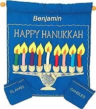 Pockets of Learning Personalized Hebrew Hanukkah Menorah Wall Hanging, Holiday Décor, Jewish Fabric Advent Calendar, Chanukah Cloth Countdown