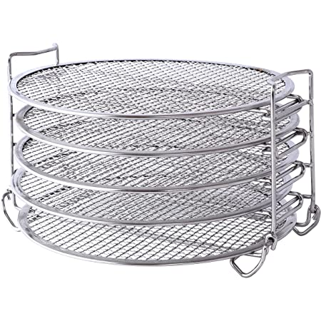 Green Science Dehydrator Rack ( 5 Layers ) - Food Grade 304 Stainless Steel Stand & Accessories - Compatible with Ninja Foodi Pressure Cooker 8 Quart