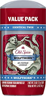 Old Spice Wild Collection Invisible Solid Antiperspirant and Deodorant, Wolfthorn, 2 Count  Packaging may Vary