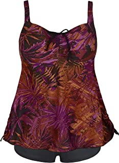 cb6f5477ff Septangle Women s Plus Size Bathing Suits Paisley Print Two Piece Swimsuit