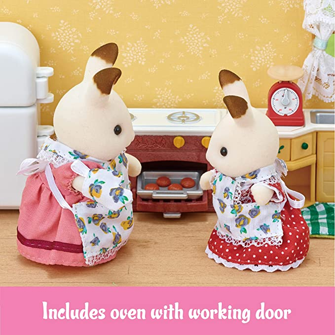 Calico Critters Deluxe Kozy Kitchen Set Toys Games Amazon Com