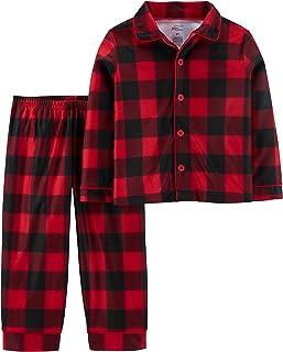 Simple Joys by Carter's 2-Piece Coat Style Pajama Set Unisex niños, Pack de 2