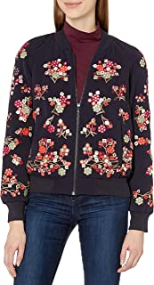 French Connection Women's Gilliam Stitch Bomber Jacket