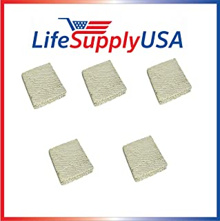 LifeSupplyUSA 5 Pack Replacement Evaporator Pad Filter with Wick Compatible with Skuttle A04-1725-052 Model 2000 White-Rodgers, Goodman Humidifiers