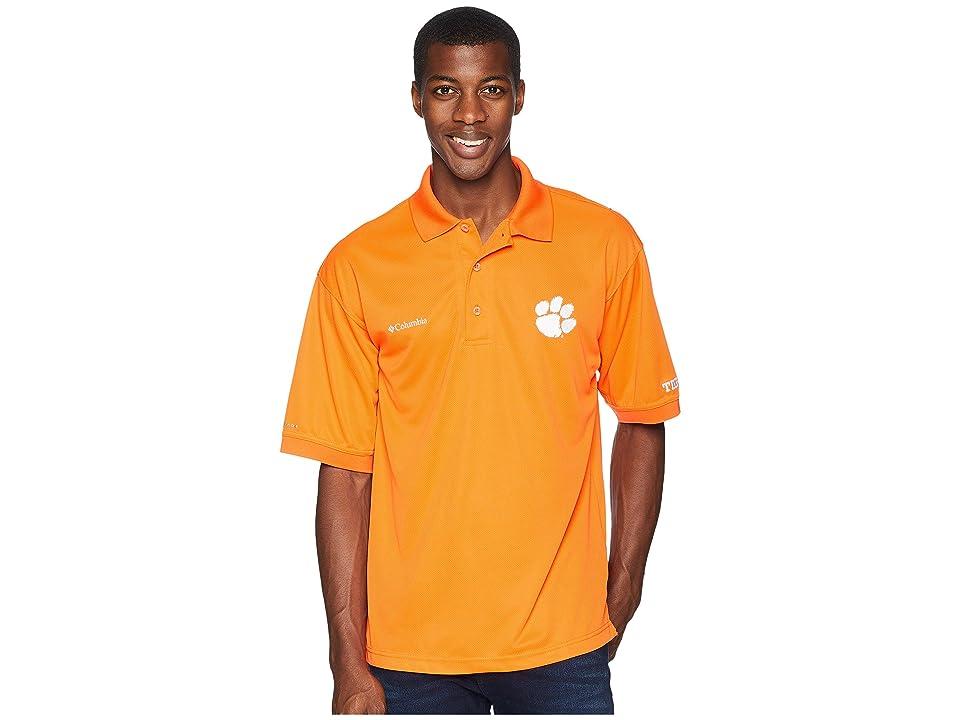 Columbia Collegiate Perfect Casttm Polo Top (Clemson/Spark Orange) Men