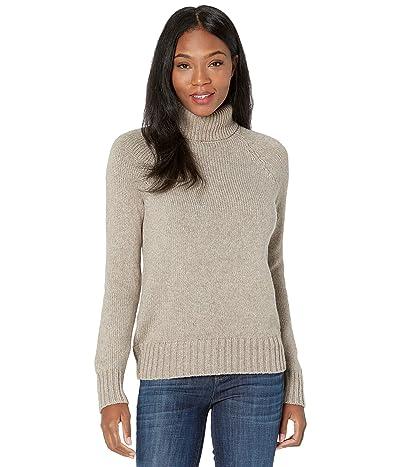 tentree Highline Wool Turtleneck Sweater (Desert Taupe Heather) Women