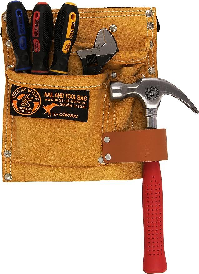 Echtes Werkzeug für Kinder - Echtes Kinderwerkzeug - Corvus Kids at Work Werkzeugset mit Gürtel