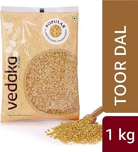 Amazon Brand Vedaka Popular Toor Dal 1Kg