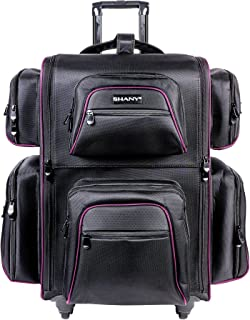 SHANY Total Jetsetter Makeup Artist Soft Travel cosmetics Bag with Multiple Compartment & 10 Free Makeup Organizers - Make...