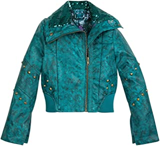 Uma Faux Leather Moto Jacket for Kids - Descendants 3 Size Blue