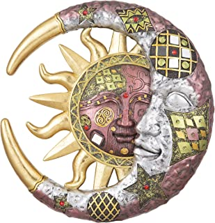 """George S. Chen Imports 7863047 Polyresin Home Decor Mosaic-Sun Face 11"""" high"""