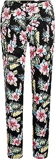 Women's Hibiscus High Rise Casual Slim Leg Hawaiian Pants