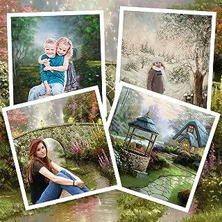 Digital Green Screen Watercolor OIL Style Backgrounds Backdrops Mac & Windows