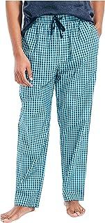 Nautica Men's Soft Woven 100% Cotton Elastic Waistband Sleep Pajama Pant, Blue Mist, Large