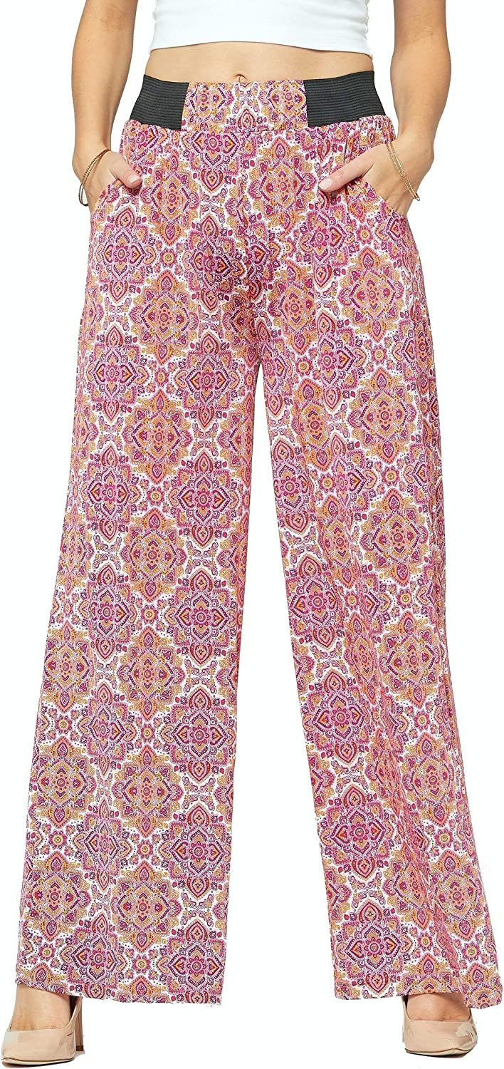 Premium Women's Palazzo Pants with Pockets - High Waist - Solid and Printed Designs