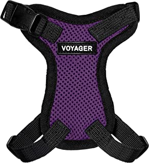 Voyager Step-In Lock Pet Harness – All Weather Mesh, Adjustable Step In Harness for Cats and Dogs by Best Pet Supplies - P...