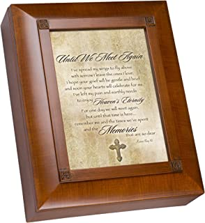 Cottage Garden Until We Meet Again Woodgrain Remembrance Keepsake Box