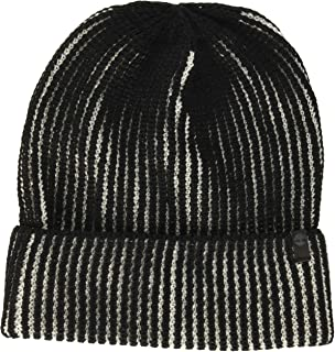 قبعة Timberland للرجال ذات أساور مضلعة، أسود، مقاس واحد