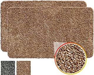 IRONGECKO Original Durable Absorbs Microfiber Mud Indoor Mat 2 Pack (29.5x17.4),Heavy Duty Door mat, Easy Clean, Low-Profile Mats for Entry,High Traffic Areas.