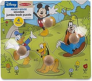 Melissa & Doug Disney Mickey Mouse and Friends Jumbo Knob Wooden Puzzle