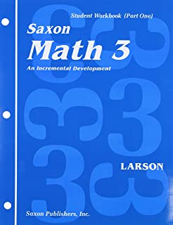 Math 3: An Incremental Development Set: Student Workbooks, part one and two plus flashcards (Saxon math, grade 3)