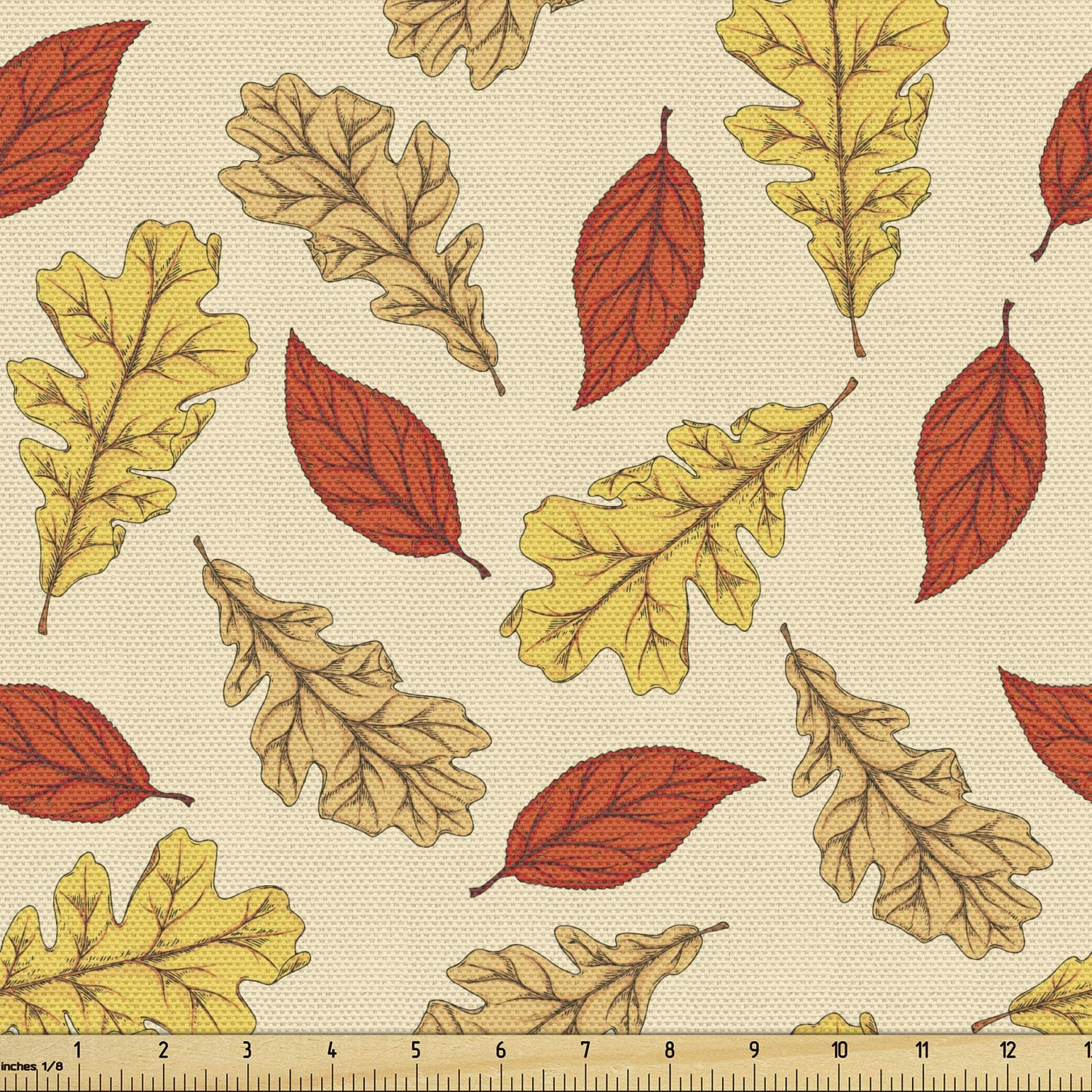 Ambesonne Nature Art Fabric by Yard mart The Leave Different Falling Manufacturer OFFicial shop